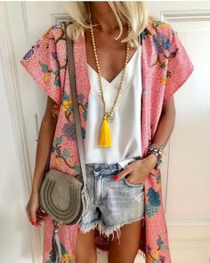 Cover-Ups Chiffon Swimwear Cover Up Summer Beach Kaftan Swimsuit For Woman Tunique Plage Bathing Suit Chiffon Cardigan, Short Sleeve Cardigan, Fall Cardigan, Cardigan Outfits, Short Outfits, Summer Outfits, Cute Outfits, Mode Statements, Look Con Short