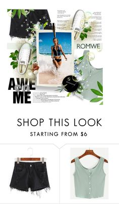 """Romwe"" by tinaisapenguin ❤ liked on Polyvore featuring Converse and Seafolly"