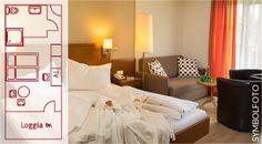Hotel SIMON - Zimmerbeispiel HARMONIE Bed, Furniture, Home Decor, Homemade Home Decor, Stream Bed, Home Furnishings, Beds, Decoration Home, Arredamento