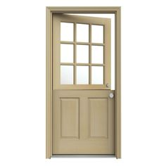Fresh 9 Lite Wood Entry Door