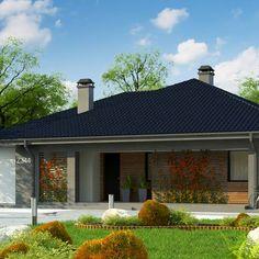 Z344 to wyjątkowy dom z kategorii projekty domów z dachem wielospadowym Design Case, Gazebo, House Plans, Villa, Outdoor Structures, Small Houses, Outdoor Decor, Home Decor, Model