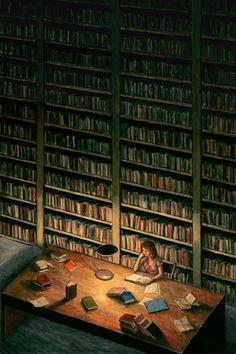 Biblioteca (Library) by Miháy Bodó (Artist, Hungary).