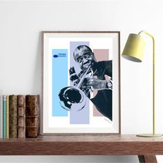 Louis Armstrong  Mixed media collage jazz blues by SoulArtCorner