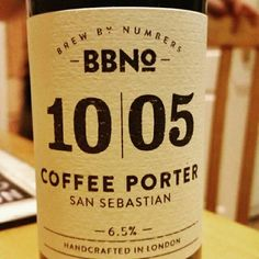 Smooth coffee flavours. - Drinking a 10|05 Coffee Porter - San Sebastian by Brew By Numbers