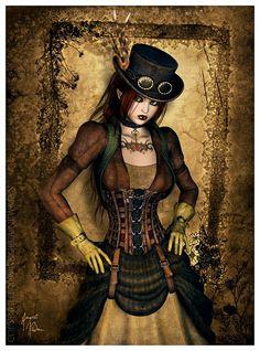 Steampunk art Can I make a costume that looks like this? Chat Steampunk, Arte Steampunk, Style Steampunk, Steampunk Costume, Steampunk Clothing, Steampunk Fashion, Photo Awards, Cg Art, Punk Art