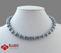 This beautiful necklace is another beading project with Pinch beads. Easy and relatively fast to make.Beading Tutorial for Mala Necklace is very detailed
