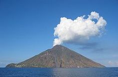 Stromboli, one of the active volcanoes in the Aeolian Islands off of Sicily/Naples.