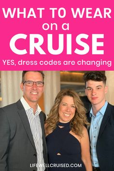 Everything you want to know about what to wear on a cruise, from dress codes on all major cruise lines to how people really dress on cruise ships. Cruise outfit ideas and cruise clothing packing list included. #cruise #cruiseoutfits #cruisetips