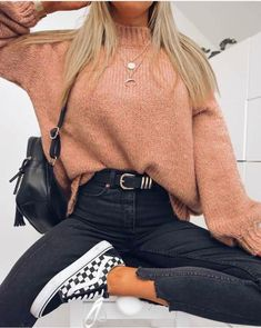 Comfortable Winter Outfits, Casual Fall Outfits, Winter Fashion Outfits, Stylish Outfits, Cool Outfits, Outfit Winter, Autumn Casual, Autumn Style, Winter Style