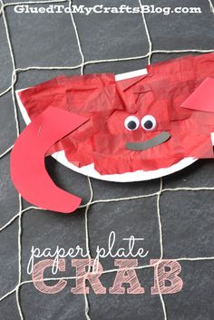 Paper Plate Crab - Kid Craft