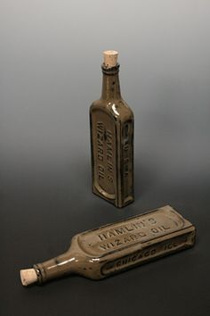 """Peter St Lawrence, Black Wizard Flask """"This ceramic bottle was cast from an… Old Medicine Bottles, Antique Glass Bottles, Vintage Bottles, Ceramic Jars, Ceramic Pottery, Pottery Art, Bottles And Jars, Perfume Bottles, Mugs And Jugs"""