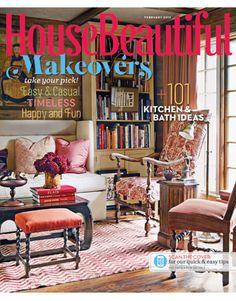 February 2013 cover. housebeautiful.com. #house_beautiful #magazine_cover