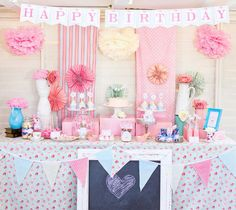 Shabby Chic Princess Girl Pink Vintage Party Planning Ideas - change to purple & gray with an accent of mint green. Princess Theme Party, Tea Party Theme, Baby Shower Princess, Princess Birthday, Girl Birthday, Birthday Parties, Princess Girl, Birthday Ideas, Happy Birthday