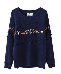 Manual Crochet Long Sleeves Knitwear