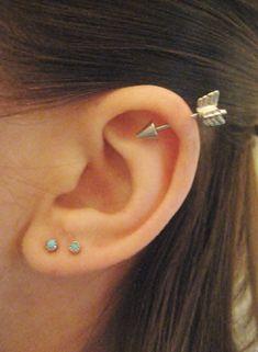16 Gauge Pfeil Helix Piercing Ohrring Stud Post von AzeetaDesigns