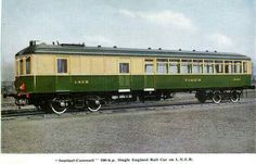 "Another Senteniel stam railcar of the LNER in the 1930s. They were named after stage coaches with names like ""Tally Ho"", ""Nettle "" and"" Bang Up """