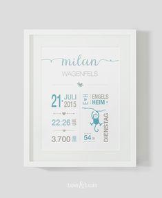 Schönes zur Geburt: Baby Prints, Geburtskarte, Glückwunschkarte