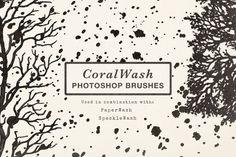 CoralWash Photoshop Brushes by Paperwash on @creativemarket