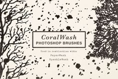 // CoralWash Photoshop Brushes by Paperwash on Creative Market //