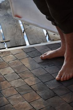 endgrain wood floors by Torsten Ottesjö