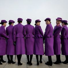 Chinese hostesses who serve the delegates of the Chinese People's Political Consultative Conference pose for photographs outside the Great Hall of the People during the opening session of the CPPCC in Beijing. #APPhoto by @awongphoto  #China #hostesses #Beijing #AndyWong #purple #women #smile #portrait #hat #uniform  #AP #AssociatedPress#APImages #photojournalism#photography