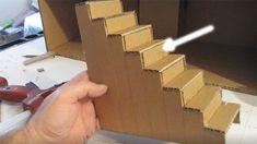 Cardboard Model, Cardboard Dollhouse, Cardboard Box Crafts, Cardboard Castle, Diy Dollhouse, Dollhouse Miniatures, Cardboard Houses, Diy Barbie Furniture, Dollhouse Furniture