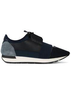 BALENCIAGA Race Runner Sneakers. #balenciaga #shoes #sneakers Blue Sneakers, Blue Shoes, Men's Shoes, Shoes Sneakers, Balenciaga Mens, Balenciaga Shoes, Suede Heels, Leather Heels, Fashion Sites
