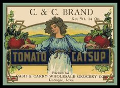 Vintage Tomato Ketchup Refrigerator Magnet  FREE US by LABELSTONE, $4.50