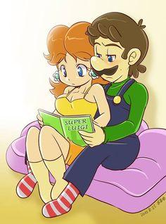 Luigi and Princess Daisy Super Mario Bros, Mundo Super Mario, Super Mario Brothers, Super Smash Bros, Princesa Daisy, Princesa Peach, Metroid, Mario Funny, Luigi And Daisy