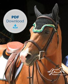 A detailed, step-by-step tutorial on how to make your own crochet fly bonnet for your horse! Save money by making your own custom crochet fly bonnet. Horse Ears, Horse Fly, Pony Horse, Bonnet Pattern, Pouch Pattern, Sewing Art, Sewing Patterns, Crochet Patterns, Sewing Quarter