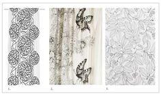 1. Marimekko Bottna  2. Vanilla Mon Amour Elegance 3. Ikea Stockholm Blad