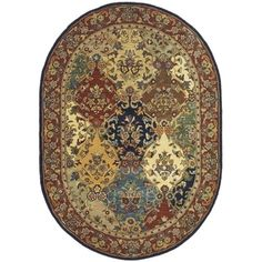Shop for Safavieh Handmade Heritage Timeless Traditional Multicolor/ Burgundy Wool Rug (7'6 x 9'6 Oval). Get free shipping at Overstock.com - Your Online Home Decor Outlet Store! Get 5% in rewards with Club O!
