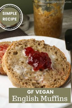 Have fun playing with your favorite gluten free flours to mix up these yummy egg free english muffins! Breakfast is back! Gluten Free Recipes For Dinner, Paleo Recipes, Real Food Recipes, Gluten Free Flour, Vegan Gluten Free, Gluten Free English Muffins, Egg Free, Food Print, Easy Meals