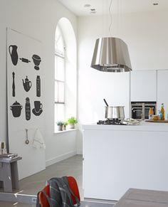 Zo maak je het: Maak met behulp van deze sjablonen een gezellige wand in de keuken.