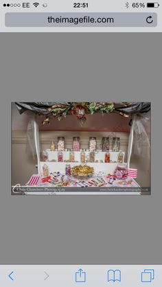 Our candy cart that Laura and Ben hired.