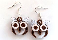 quilling earrings 26 - owls