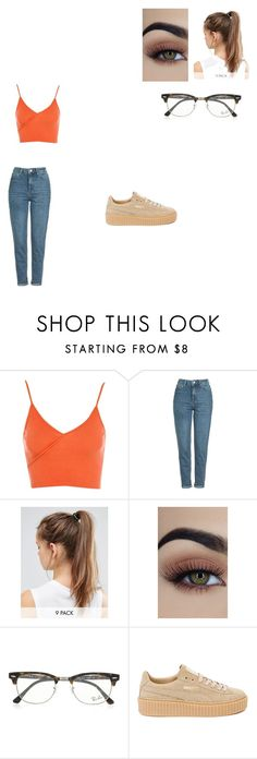 """Untitled #635"" by melissaperez427 on Polyvore featuring Topshop, NIKE, Ray-Ban and Puma"