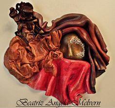 """""""ARMONIA"""" máscara marroquí modelada en cuero"""
