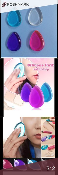 3 Pack Silicone Sponge Foundation Brush Silicone sponges are designed to save makeup by not using a brush.  Clear, blue, and purple included, never used, in original packaging.  This price is for all three.  If you would only like one, please let me know.  The picture with wood background is of actual items. This item is not Mac brand. MAC Cosmetics Makeup Brushes & Tools