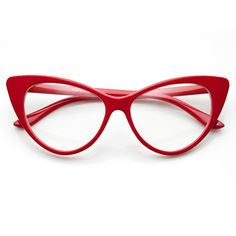 TWIGGY Cat Eye Retro Clear Frames in Red available at FLYJANE
