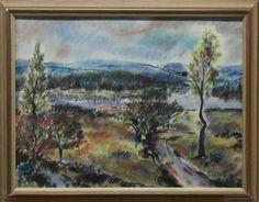 Bohuslav Reynek - Pohled do krajiny Pastel, Painting, Art, Art Background, Cake, Painting Art, Kunst, Paintings, Performing Arts