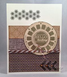 Debbie's card for World Card Making Day at StampNation.  #stampnation