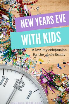 new years eve with kids - we love celebrating the new year with a night of games, crafts, and treats but keeping it low key is how we do it!  No fancy party decorations, just PJ's and fun for the whole family with our low key new years eve celebrations with kids.
