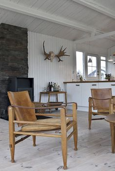 Danish Painter Bjørn Agertved's rustic coastal home
