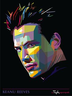 Keanu in WPAP by istikhar on DeviantArt Pop Art Illustration, Portrait Illustration, Pop Art Portraits, Portrait Art, Pop Art Design, Logo Design, Sketch Manga, Buch Design, Vector Portrait