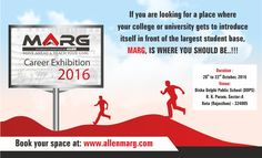 #MARG will be 3 day Career Exhibition, which is being organized by ALLEN Career Institute, Kota for its fellow students enrolled at Kota center. This exhibition is aiming to enlighten students on full paradigm of career options in Engineering, Medical & related fields. Book Your University/College Space today at www.allenmarg.com. #CareerExhibition #kotacoaching #allenkota