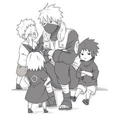 kakashi, naruto, and sakura 이미지