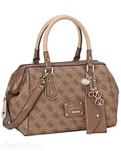 Guess Park Lane Frame Satchel Handbag