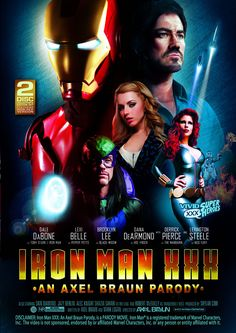 IRON MAN XXX 2 DISC SET - From legendary director Axel Braun and adult powerhouse Vivid Entertainment comes an action-packed sexy spoof on the tale of billionaire philanthropist Tony Stark (Dale DaBone) and his superhero alter-ego.
