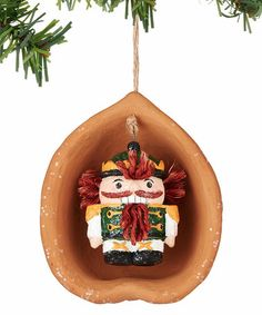 Loving this Christmas Spirit in a Nutshell Ornament on #zulily! #zulilyfinds